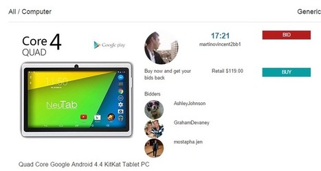 Quad Core Google Android 4.4 KitKat Tablet PC | social bidding | Scoop.it