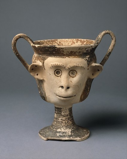 Terracotta kantharos (drinking cup with high vertical handles) | East Greek or Cypriot | Archaic | The Metropolitan Museum of Art | LVDVS CHIRONIS 3.0 | Scoop.it