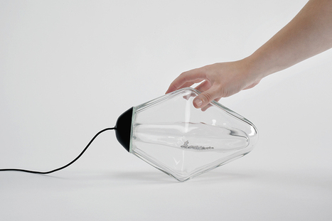 the mercure lamp by lucie le guen uses its own slope to turn on | Industrial Design | Scoop.it