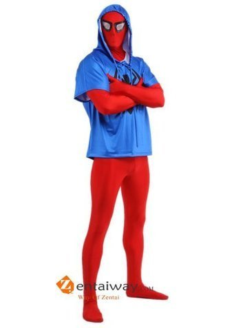 Lycra Spandex Blue And Red Scarlet Spiderman Costume [2013141] - $62.00 : zentaiway.com | Coolest spiderman costumes | Scoop.it