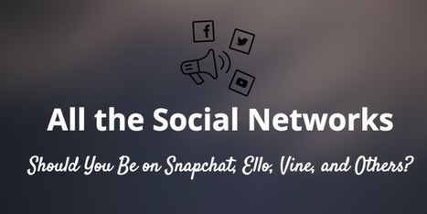 Should You Be on Snapchat, Ello, or Vine? A Look at Social's Fringe | Build Your Author Platform: New Rules | Scoop.it