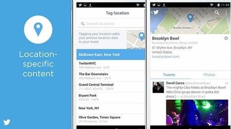 Twitter crée la Timeline des Tweets géolocalisés avec Foursquare | Geeks | Scoop.it
