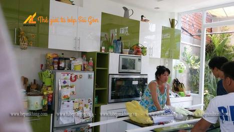 Tủ bếp acrylic chị LINH - Nhà Bè DATB10.   bepankhanggiare   Scoop.it