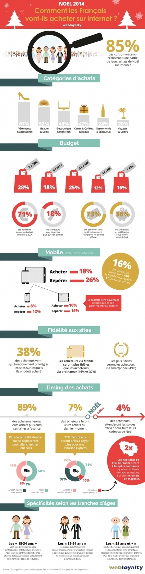 Noël : 85 % des Français font leurs achats sur Internet | Communication et webmarketing | Scoop.it