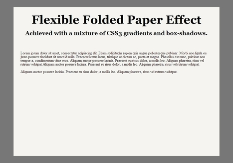 Create a Flexible Folded Paper Effect With CSS3 | Webdesigntuts+ | designersbook | Scoop.it