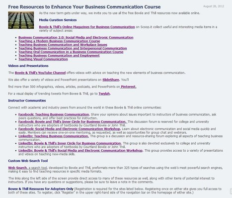 Free Resources to Enhance Your Business Communication Course | Marketing Education | Scoop.it