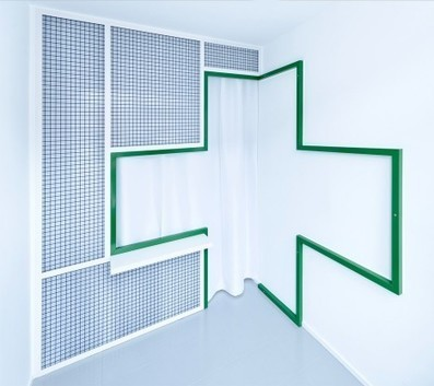 Adam Wiercinski creates green cross interior for denture clinic | What's new in Design + Architecture? | Scoop.it
