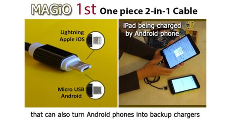 MAGiO 1st One piece 2-in-1 Cable: Android & Apple | Creative Ideas | Scoop.it
