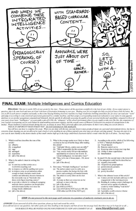 Multiple Intelligences & Comics Education (Online + Printable) | Pop Culture in Education | Scoop.it
