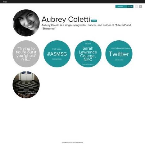 Aubrey Coletti's Vizify Bio | Overview | Altered | Scoop.it