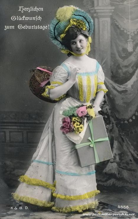 Geburtstagskarten vor über 100 Jahren | gaidaphotos | Scoop.it