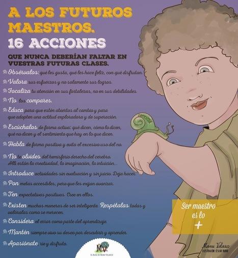 EL BLOG DE MANU VELASCO: A LOS FUTUROS MAESTROS - 16 ACCIONES QUE NUNCA DEBERÍAN FALTAR EN VUESTRAS FUTURAS CLASES | Recursos TIC para educación | Scoop.it
