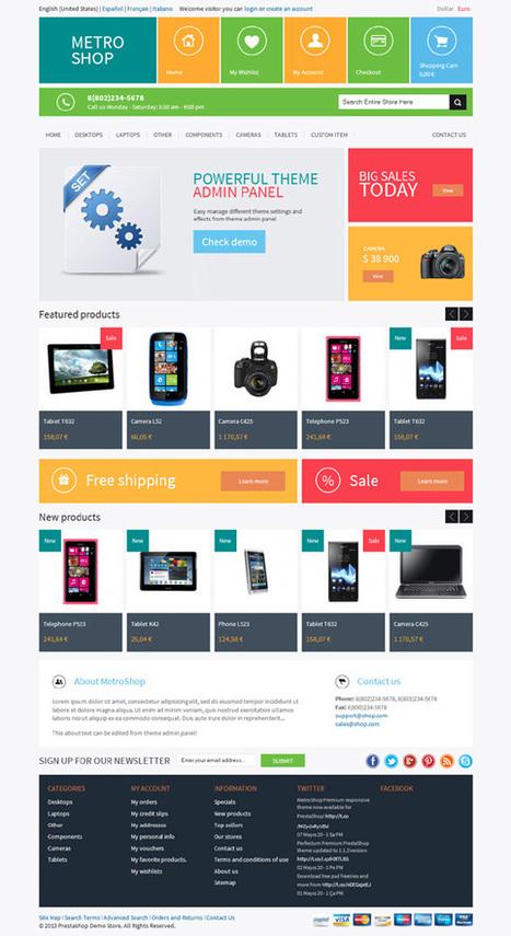 MetroShop, PrestaShop Responsive Metro Style Theme | Premium Download | test | Scoop.it