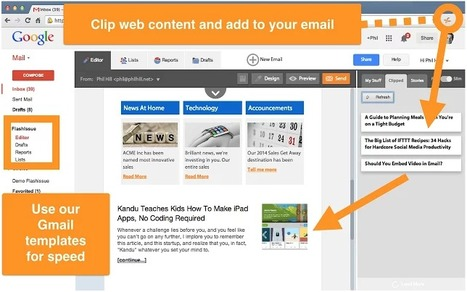 Newsletter Creator for Gmail - Flashissue | Moodle and Web 2.0 | Scoop.it