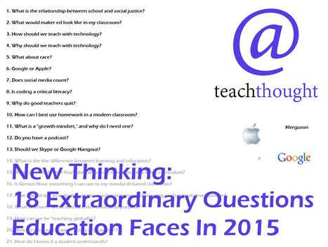 18 Extraordinary Questions Education Faces In 2015 | Technologies educatives | Scoop.it