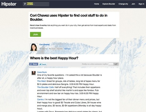Hipster is location-based Q&A – call it Quora for where you are | VC and IT | Scoop.it