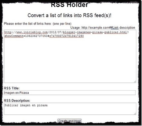 Crear RSS feed con RSS Holder - Mi Blog en Blogger seorimícuaro | SEO y Posicionamiento | Scoop.it