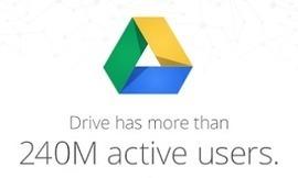 Google revendique 240 millions d'utilisateurs pour Drive | Communication digitale | Scoop.it