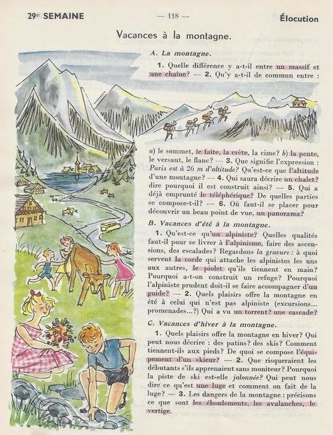 Berthou. Vacances à la montagne.   FLE -  enfants - maternelle et primaire   Scoop.it
