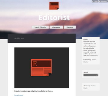 50 Most Advisable Free Tumblr Themes   programming   Scoop.it