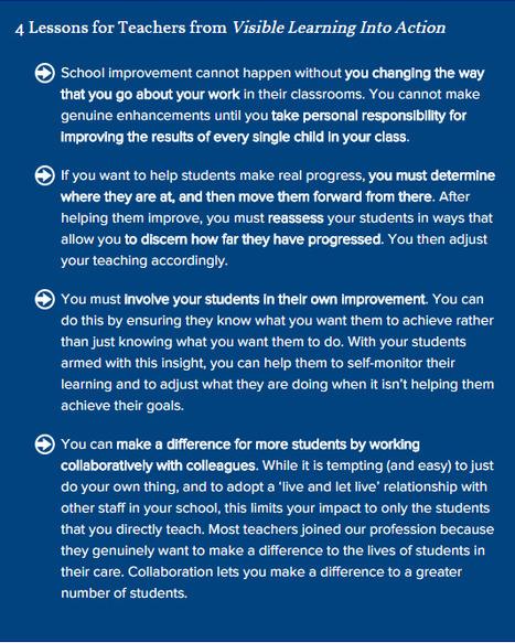 (Hattie) Visible Learning Into Action | eLeadership | eSkills | Teacherpreneurs | Purposeful Pedagogy | Scoop.it