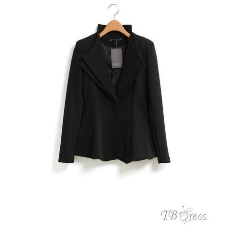 $ 22.19 Celebrity Long Sleeves One-Button Pure Color Casual Blazer   beauty   Scoop.it