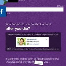 Surprising Facts About Death On Facebook | Visual.ly | digifun | Scoop.it