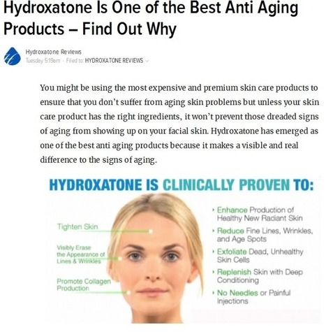 Hydroxatone Reviews : Are You Using Your Wrinkle Creams The Right Way? | Healthy Living | Scoop.it