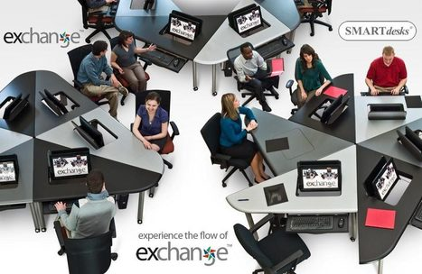 Collaboration Furniture, Collab Education Furniture, Collaborative Computer Conference Tables-- the Exchange™ Collaboration Table System by SMARTdesks | CollaborativeIE2 | Scoop.it