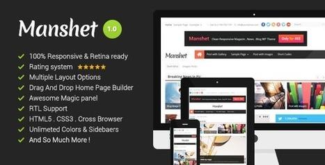 Manshet Retina Responsive WordPress News, Magazine Download | Best Wordpress Themes | Scoop.it