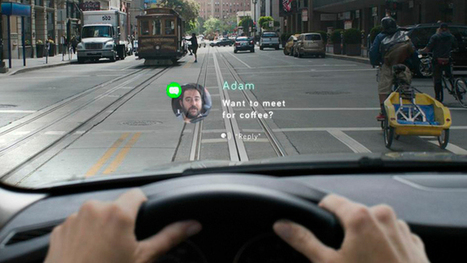 In-car heads-up display lets you respond to texts with hand motions and voice | Amazing Science | Scoop.it