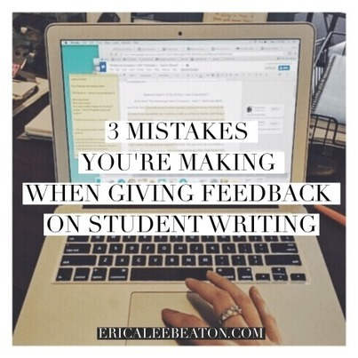 3 Mistakes You're Making When Giving Feedback on Student Writing | Transformational Teaching and Technology | Scoop.it