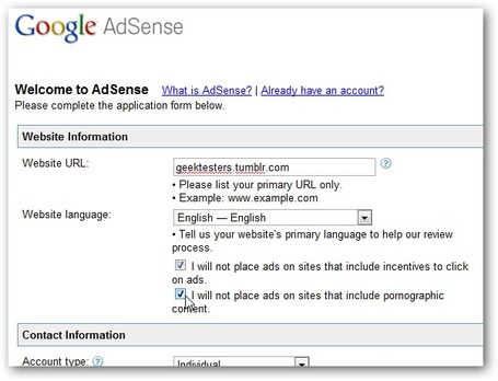 "How to Add Google AdSense to Your Tumblr Blog - How-To Geek | ""#Google+, +1, Facebook, Twitter, Scoop, Foursquare, Empire Avenue, Klout and more"" 