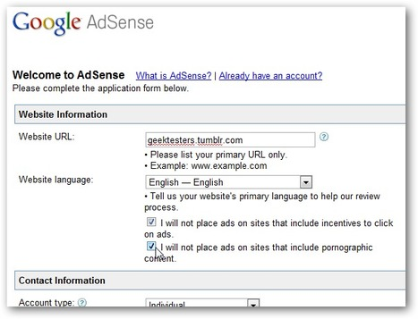 How to Add Google AdSense to Your Tumblr Blog | SOCIAL MEDIA, what we think about! | Scoop.it