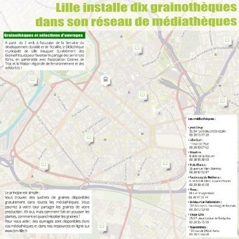 Lille installe 10 grainothèques ! | Valorisation des collections | Scoop.it