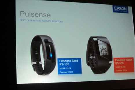 Epson launches wearable Pulsense heath trackers. (Yes, Epson!) | quantified self and lifelogging | Scoop.it