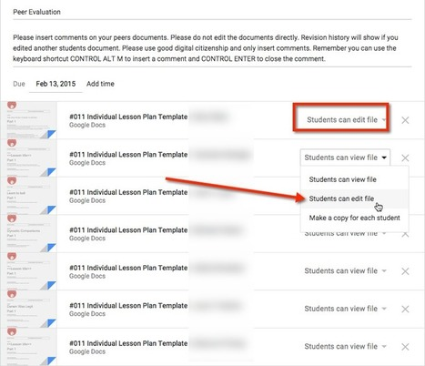 Google Classroom: Sharing Student Work Exemplars & Peer Evaluation (great ideas from Alice Keeler) | Education | Scoop.it