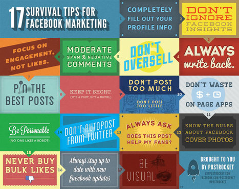 Top 17 Best Facebook Marketing Survival Tips Online | Infographics | Virtual Options: Social Media for Business | Scoop.it