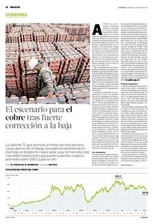 El escenario para el cobre tras fuerte corrección a la baja - Latercera | proyectos mineros chile | Scoop.it