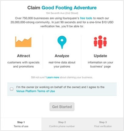 On Foursquare, $10 Buys Instant Verification For Your Business | Mobile & Magasins | Scoop.it