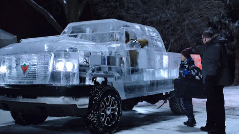 This pickup truck is made of ice and you can actually drive it | MarketingHits | Scoop.it
