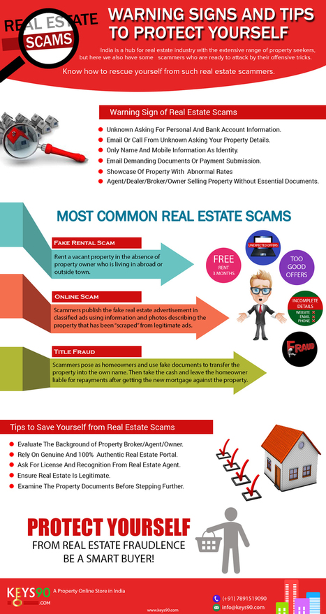Real Estate Scams – Warning Signs and Tips [INFOGRAPHIC] | Infographics by Infographic Plaza | Scoop.it