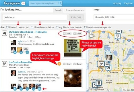 10 Reasons to Use Foursquare Explore for Personalized Local Searches | Mobile (Android) apps | Scoop.it
