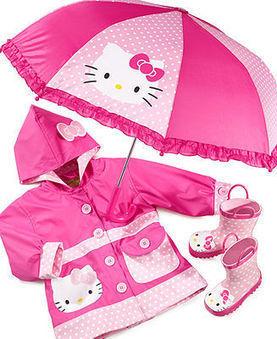 Western Chief Kids Rain Gear, Girls Hello Kitty Polka Dot - Kids - Macy's | kid dress | Scoop.it