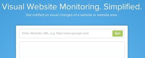Surveillez les changements de vos pages Web sans RSS avec VisualPing | Management des connaissances | Scoop.it