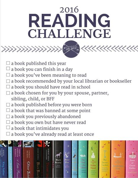 The 2016 Reading Challenge. | All Things Books | Scoop.it