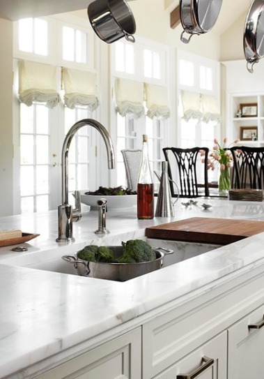The Granite Gurus: Whiteout Wednesday: 5 White Kitchens with Marble Countertops | Engineered Stones | Scoop.it