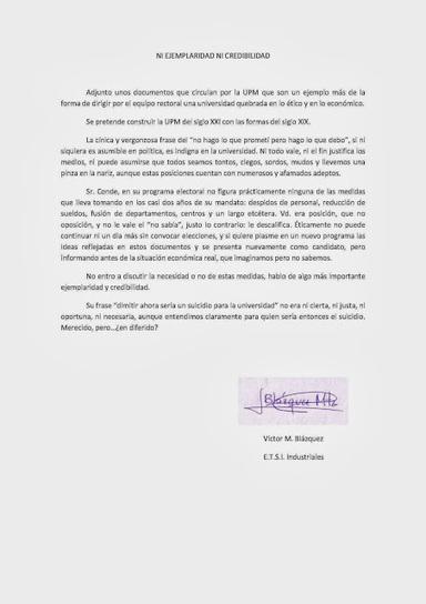 Cartas al sindicato SAP: NI EJEMPLARIDAD NI CREDIBILIDAD | Octubre 2013. La UPM del siglo XXI NO pacta | Scoop.it