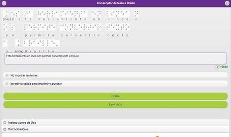 HetaH Transcriptor, una herramienta online gratuita para transcribir texto a Braille   Francho2punto0 en la ESCUELA INTRUSIVA   Scoop.it