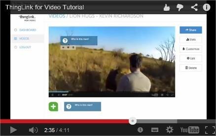 Enrichir les vidéos du web avec Thinglink_vidéo | Narration transmedia et Education | Scoop.it